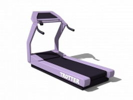 Commercial treadmill 3d model
