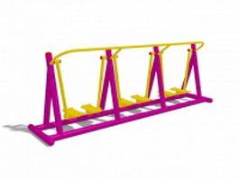 Outdoor park fitness equipment 3d model
