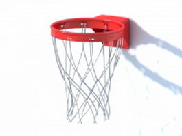 Breakaway basketball rim 3d model