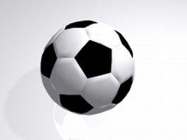 Association football 3d model