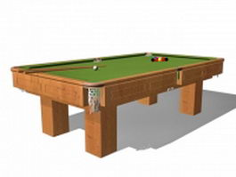 Billiard sports equipment 3d model