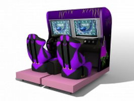 Car racing arcade games machines 3d model