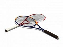 Modern tennis rackets 3d model