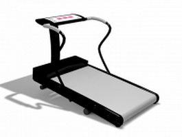 Fitness treadmill 3d model