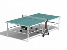 Butterfly ping pong table 3d model