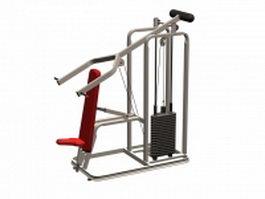 Gym fitness equipment 3d model