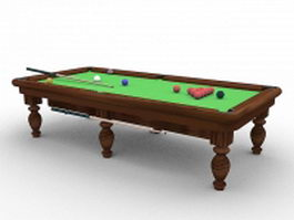 Snooker and English billiards table 3d model