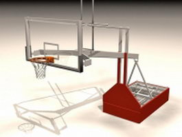 Portable basketball backstop 3d model