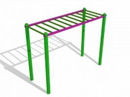 Monkey bar playground equipment 3d model