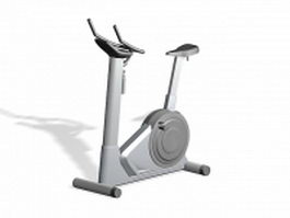 Stationary exercise bike 3d model