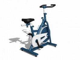 Stationary bike equipment 3d model