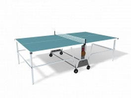 Outdoor table tennis table 3d model