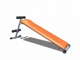Exercise equipment abdominal board 3d model