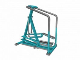 Aerobic exercise stepper machine 3d model