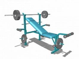 Combination weight bench set 3d model