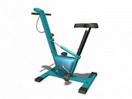Stationary bicycle exercise machine 3d model
