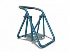 Outdoor fitness stepper 3d model