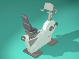 Fitness recumbent bike 3d model