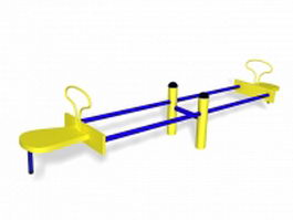 Teeter totter playground toy 3d model