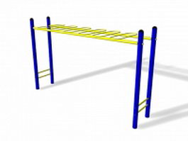 Outdoor monkey bar 3d model