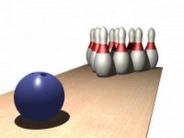 Bowling balls 3d model