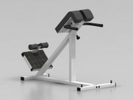 Bodybuilding fitness equipment 3d model