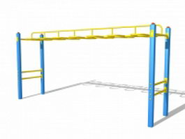 Monkey bars playground equipment 3d model