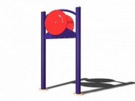 Arm wheel exercise equipment 3d model