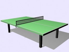 Green ping pong table 3d model