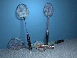 Badminton racquets 3d model