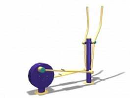 Outdoor fitness sky stepper 3d model