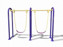Playground swing set 3d model