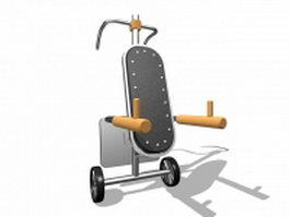Dip exercise machine 3d model