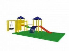Kids outdoor play equipment 3d model