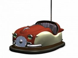 Bumper cars amusement ride 3d model