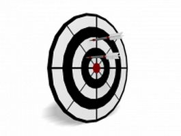 Throwing darts with dartboard 3d model