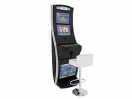 Gambling slot machine 3d model