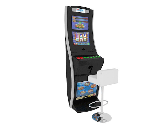 Gambling slot machine 3d model 3ds Max files free download