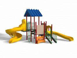 Plastic outdoor playsets 3d model