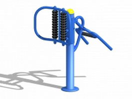 Park fitness equipment 3d model