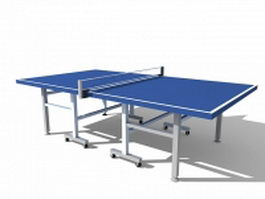 Blue ping pong table 3d model