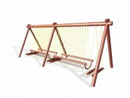 Garden climbing frame 3d model