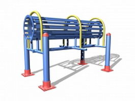 Senior citizen exercise equipment 3d model