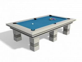 Pool table with balls 3d model
