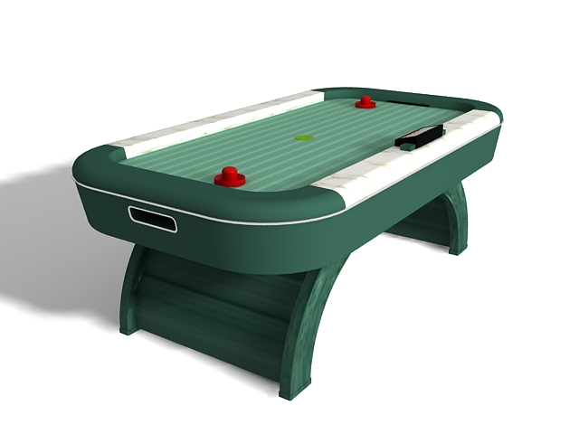 Air Hockey Table 3d Model 3ds Max Files Free Download Modeling