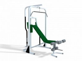 Lat pulldown machine 3d model