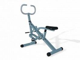 Upright exercise bike 3d model