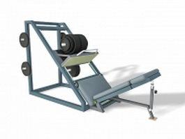 Leg press exercise machine 3d model