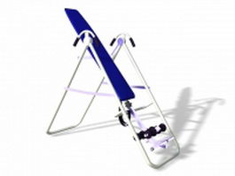 Foldable inversion table 3d model