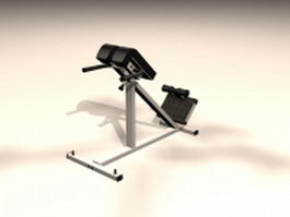 Home gym exercise equipment 3d model